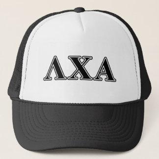 Lambda Chi Alpha Black Letters Trucker Hat