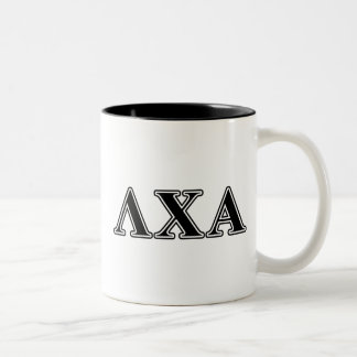 Lambda Chi Alpha Black Letters Two-Tone Coffee Mug
