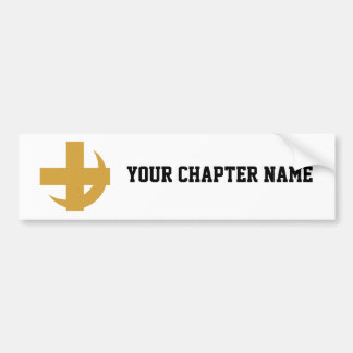 Lambda Chi Alpha Cross & Crescent Bumper Sticker