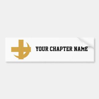 Lambda Chi Alpha Cross & Crescent Bumper Sticker