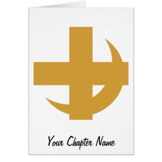 Lambda Chi Alpha Cross & Crescent Card