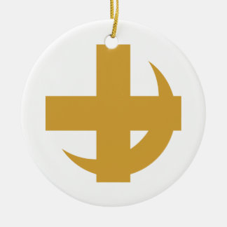 Lambda Chi Alpha Cross & Crescent Christmas Ornament