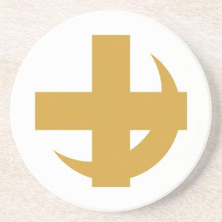 Lambda Chi Alpha Cross & Crescent Coaster