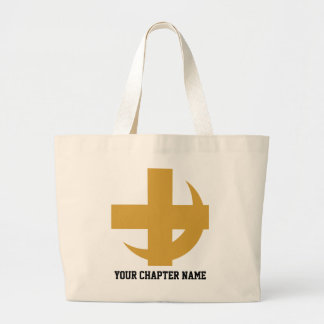 Lambda Chi Alpha Cross & Crescent Large Tote Bag