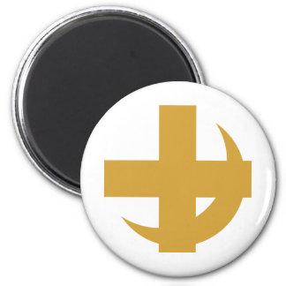 Lambda Chi Alpha Cross & Crescent Magnet