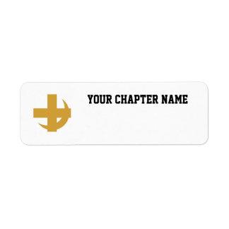 Lambda Chi Alpha Cross & Crescent Return Address Label