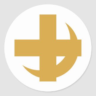 Lambda Chi Alpha Cross & Crescent Round Sticker
