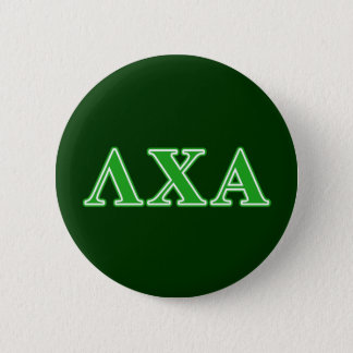 Lambda Chi Alpha Green Letters 6 Cm Round Badge