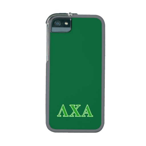 Lambda Chi Alpha Green Letters iPhone 5/5S Covers