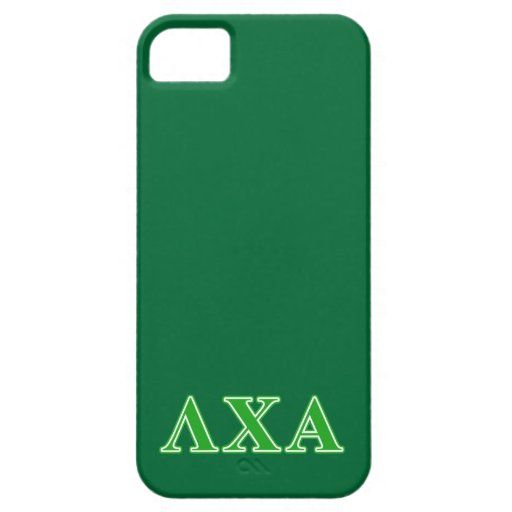 Lambda Chi Alpha Green Letters iPhone 5 Case