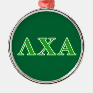 Lambda Chi Alpha Green Letters Christmas Ornament