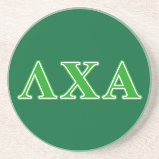 Lambda Chi Alpha Green Letters Coaster