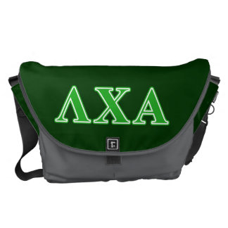 Lambda Chi Alpha Green Letters Courier Bag