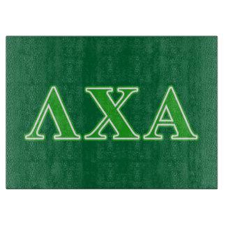 Lambda Chi Alpha Green Letters Cutting Board