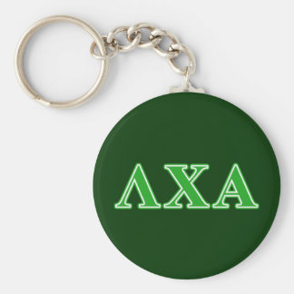 Lambda Chi Alpha Green Letters Key Ring