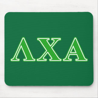 Lambda Chi Alpha Green Letters Mouse Mat