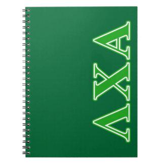 Lambda Chi Alpha Green Letters Notebooks