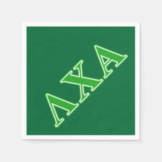 Lambda Chi Alpha Green Letters Paper Napkin
