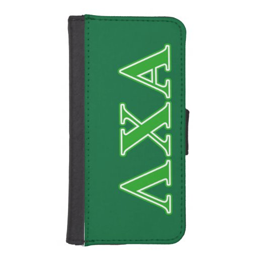 Lambda Chi Alpha Green Letters iPhone 5 Wallet Case