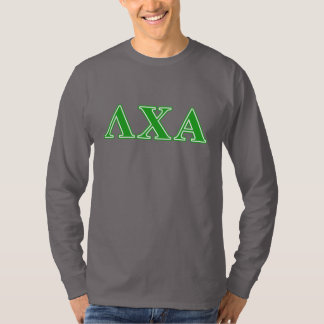 Lambda Chi Alpha Green Letters T-Shirt