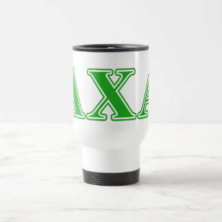 Lambda Chi Alpha Green Letters Travel Mug