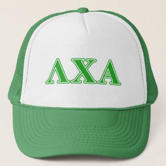 Lambda Chi Alpha Green Letters Trucker Hat
