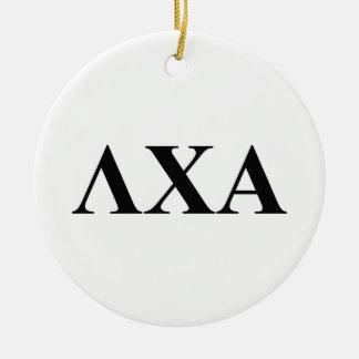 Lambda Chi Alpha Letters Round Ceramic Decoration