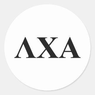 Lambda Chi Alpha Letters Round Sticker