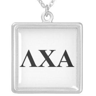 Lambda Chi Alpha Letters Silver Plated Necklace