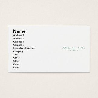 Lambda Chi Alpha Lock Up Business Card