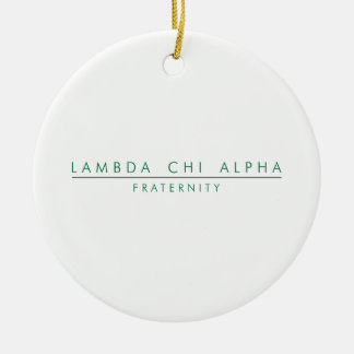 Lambda Chi Alpha Lock Up Christmas Ornament