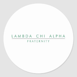 Lambda Chi Alpha Lock Up Classic Round Sticker