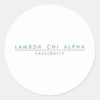 Lambda Chi Alpha Lock Up Classic Round Sticker