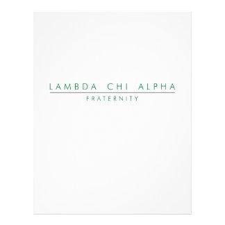 Lambda Chi Alpha Lock Up Flyer