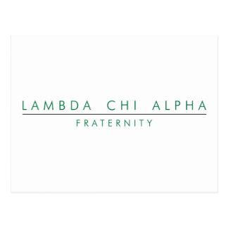 Lambda Chi Alpha Lock Up Postcard