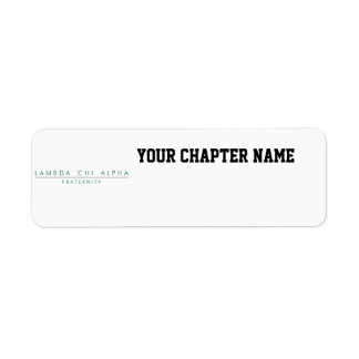 Lambda Chi Alpha Lock Up Return Address Label