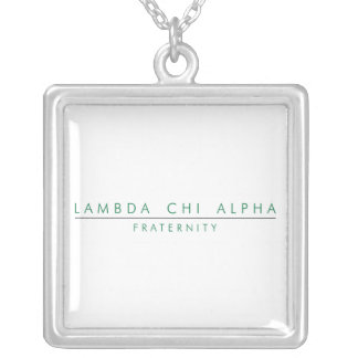Lambda Chi Alpha Lock Up Silver Plated Necklace