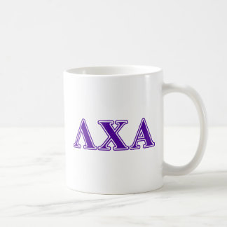 Lambda Chi Alpha Purple Letters Coffee Mug