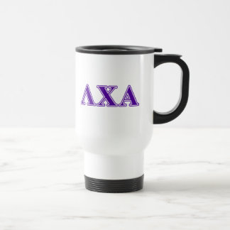 Lambda Chi Alpha Purple Letters Travel Mug