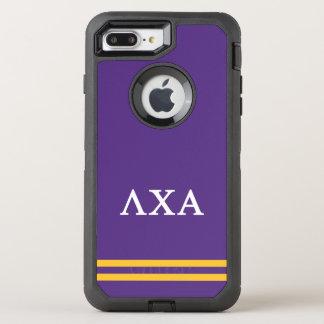 Lambda Chi Alpha | Sport Stripe OtterBox Defender iPhone 8 Plus/7 Plus Case