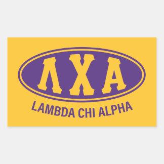 Lambda Chi Alpha   Vintage Rectangular Sticker