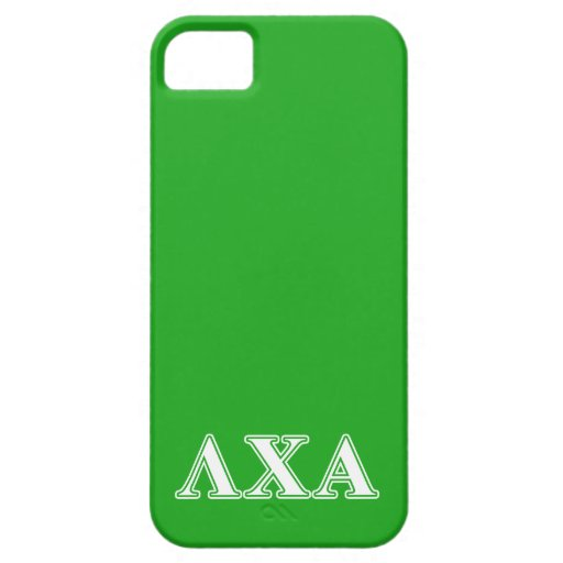 Lambda Chi Alpha White an Green Letters Cover For iPhone 5/5S