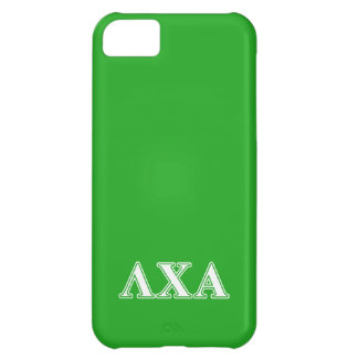 Lambda Chi Alpha White an Green Letters iPhone 5C Covers
