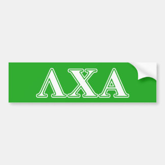 Lambda Chi Alpha White and Green Letters Bumper Sticker