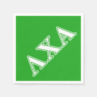 Lambda Chi Alpha White and Green Letters Disposable Serviettes