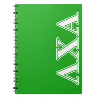 Lambda Chi Alpha White and Green Letters Notebooks