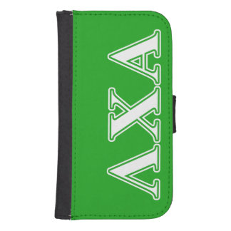 Lambda Chi Alpha White and Green Letters Samsung S4 Wallet Case