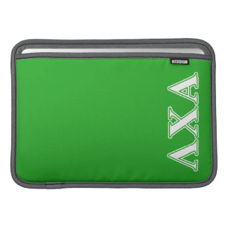Lambda Chi Alpha White and Green Letters Sleeve For MacBook Air