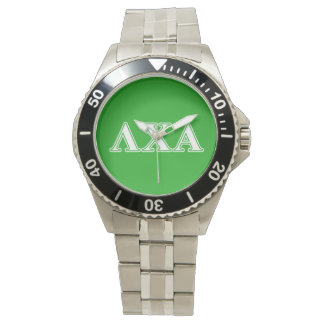 Lambda Chi Alpha White and Green Letters Watch