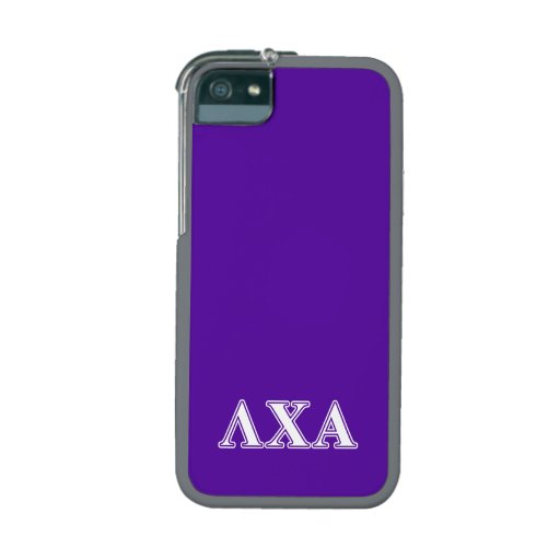 Lambda Chi Alpha White and Purple Letters iPhone 5/5S Cases